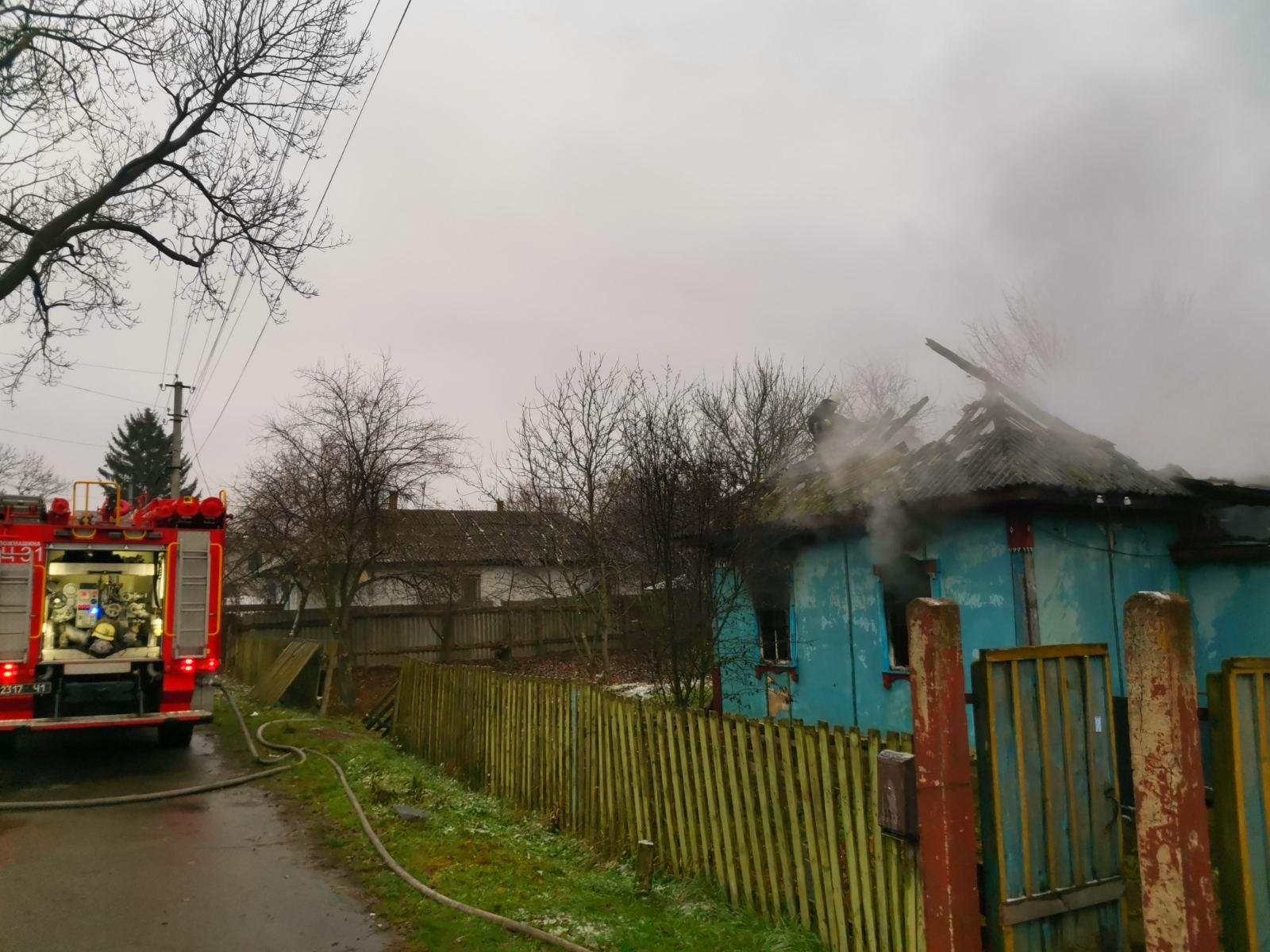На Бородянщині під час пожежі у будинку загинула жінка - пожежі, пожежа, згоріла будівля, згорів будинок, бородянські пожежники, Бородянський район - 02