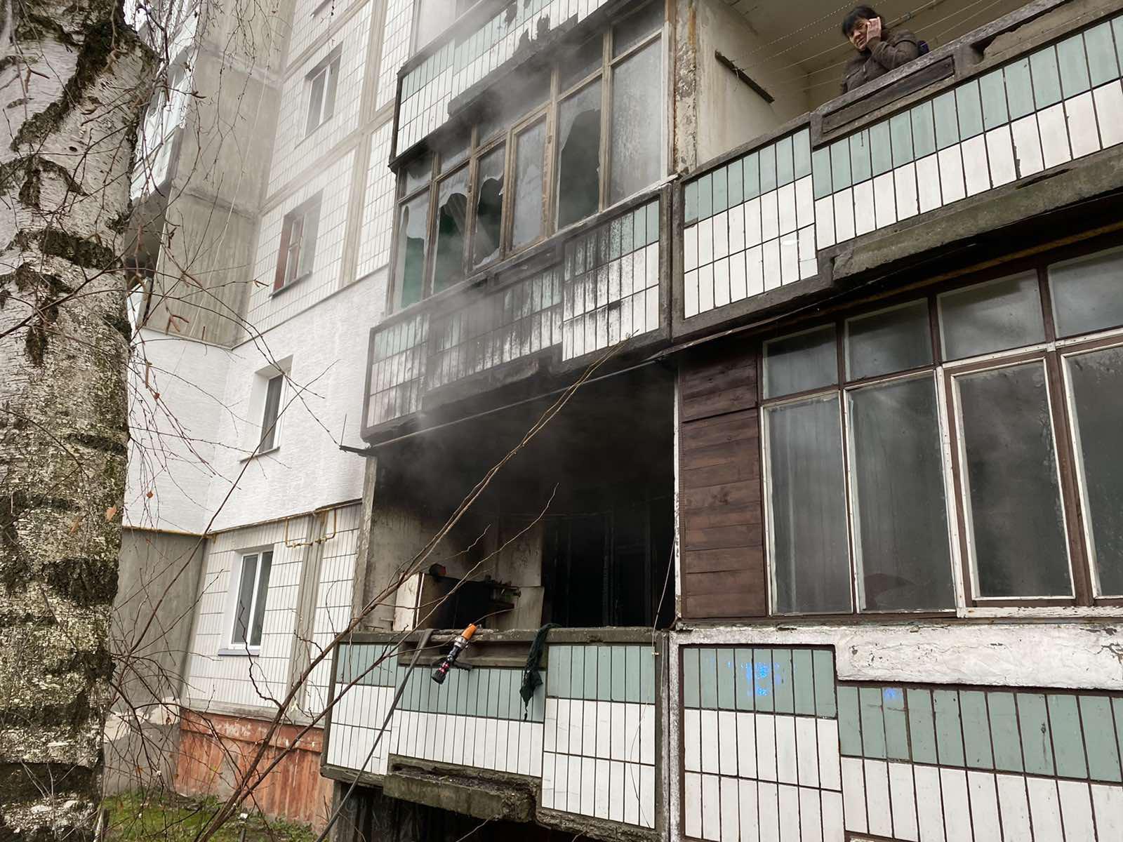 У Багатоповерховому будинку Білої Церкви горіла квартира - ГУ ДСНС у Київськійобласті, вогонь - 14 viber