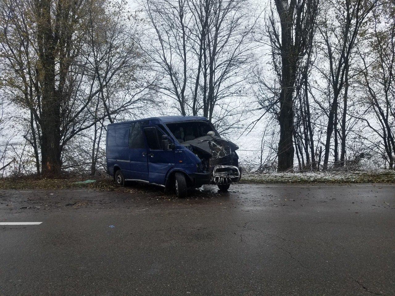 ДТП на Бориспільщині: від удару об дерево двигун авто опинився у салоні - дорога, автомобіль - DTP trasa boryspil