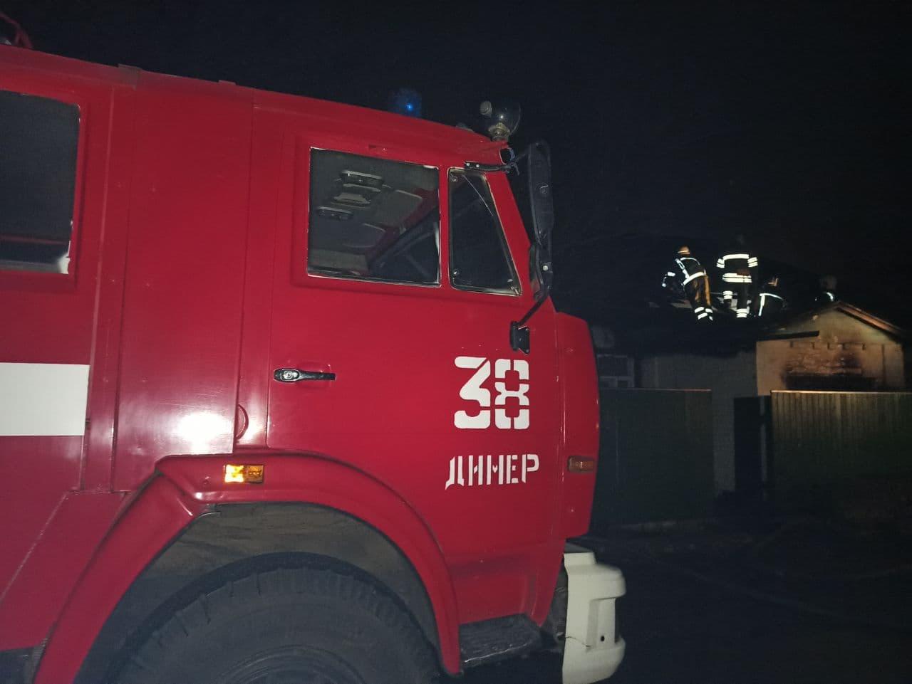 Нічна пожежа на Вишгородщині: загинула бабуся - смерть, рятувальники, пожежа будинку, Димер, Вишгородський район - Pozh1