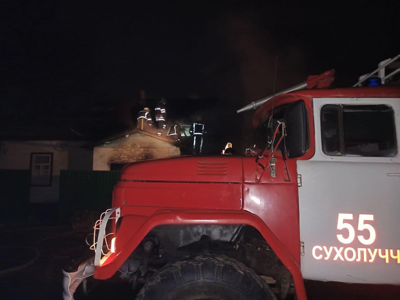 Нічна пожежа на Вишгородщині: загинула бабуся - смерть, рятувальники, пожежа будинку, Димер, Вишгородський район - Pozh2