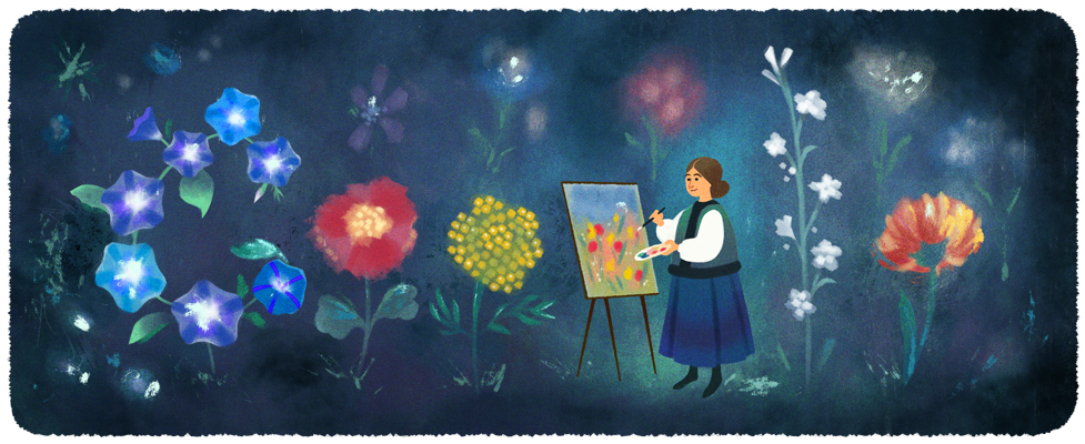 На обкладинці Google Катерина Білокур - художниця, квіти, Катерина Білокур - kateryna bilokurs 120th birthday 6753651837108642 2x