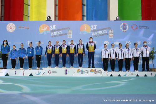 Жіноча юніорська збірна України стала віце-чемпіоном Європи - чемпіонат Європи, срібло, гімнастика, бронза - orig 517122