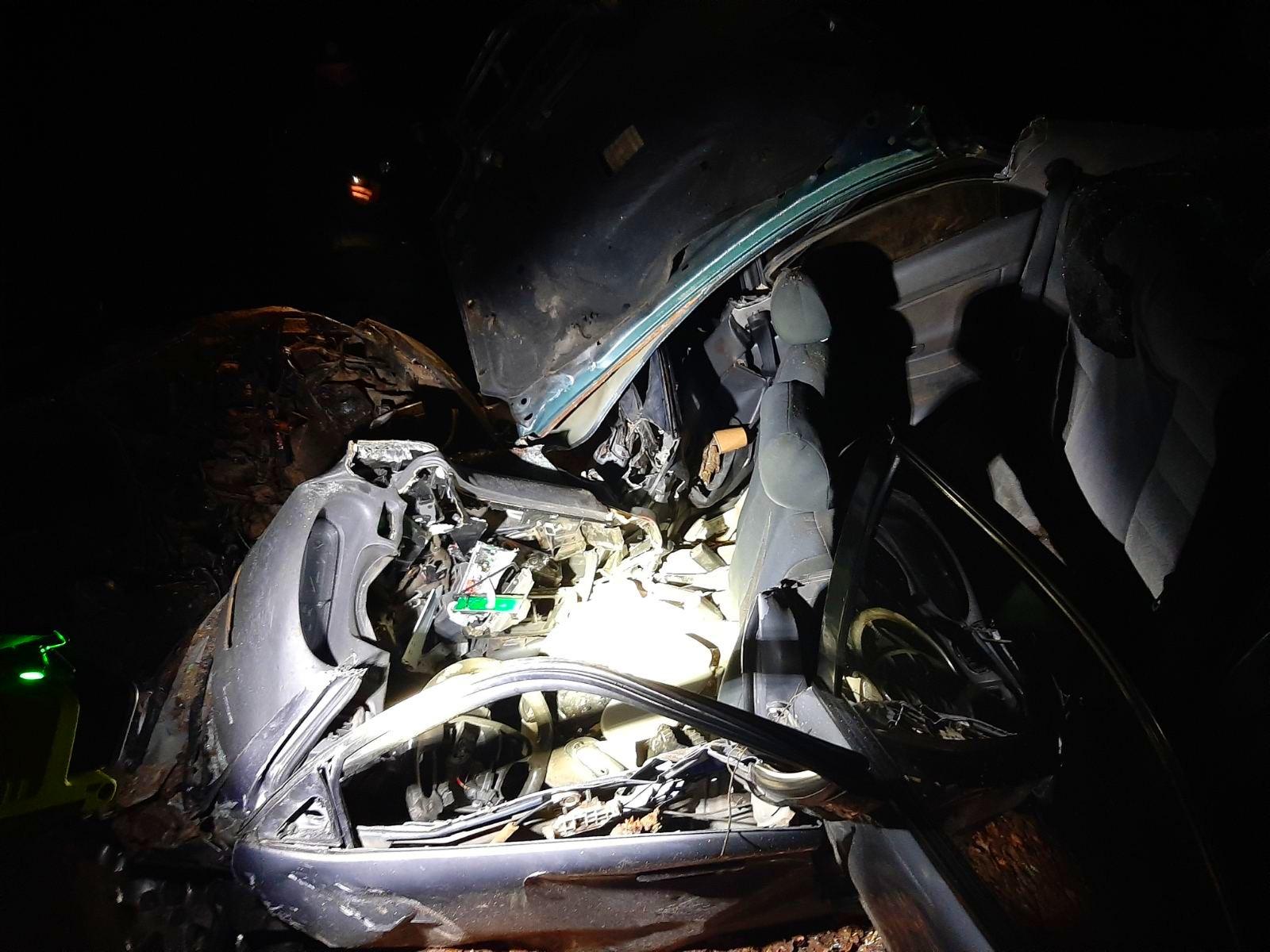 На Київщині водій не впорався з керування і врізався у дерево - Пісківська ОТГ, Бородянський район, Аварія - 01