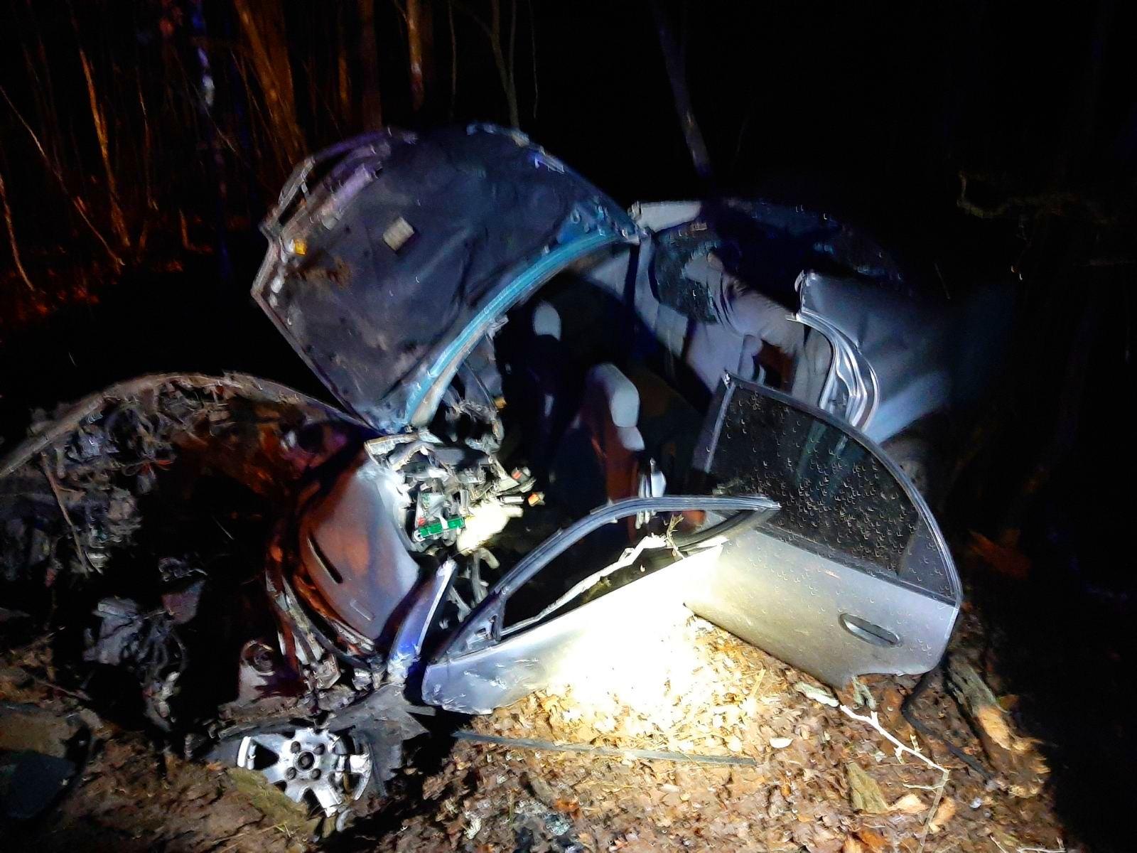 На Київщині водій не впорався з керування і врізався у дерево - Пісківська ОТГ, Бородянський район, Аварія - 02