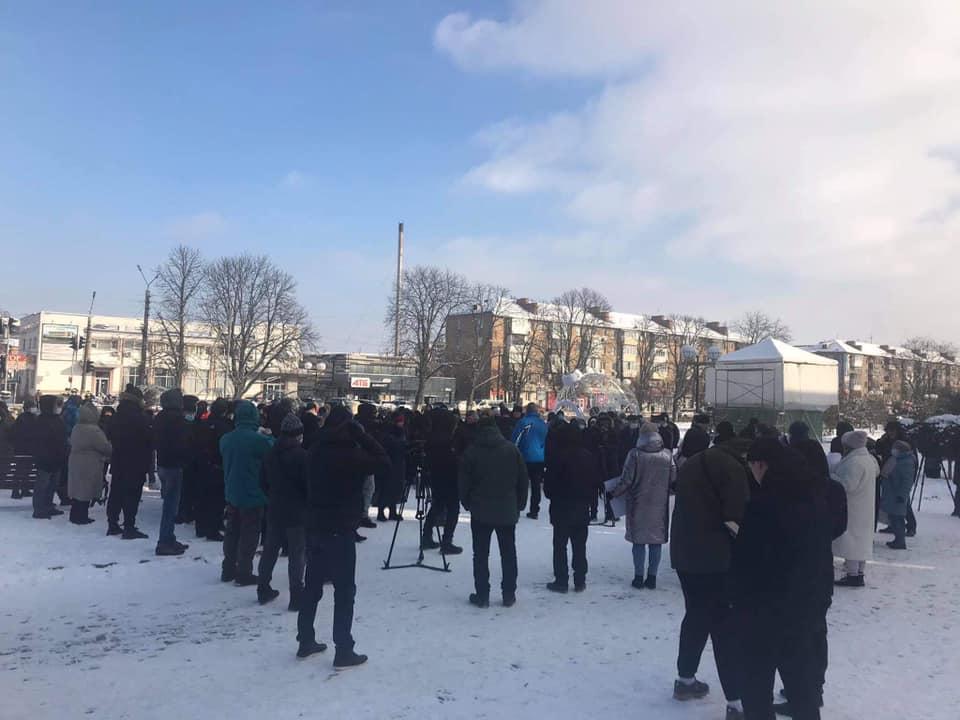 У Борисполі протестувальники перекривали дорогу - ціна на газ, протест, газ - 139747432 3662494020494005 4994259338126026518 n