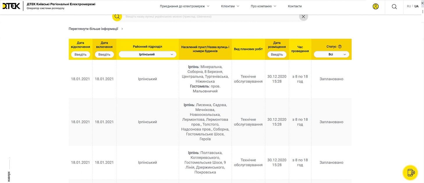 На Київщину чекають планові відключення електики - електроенергія, Відключення електроенергії - 140035362 1703454359859835 5218652126414018083 o 1