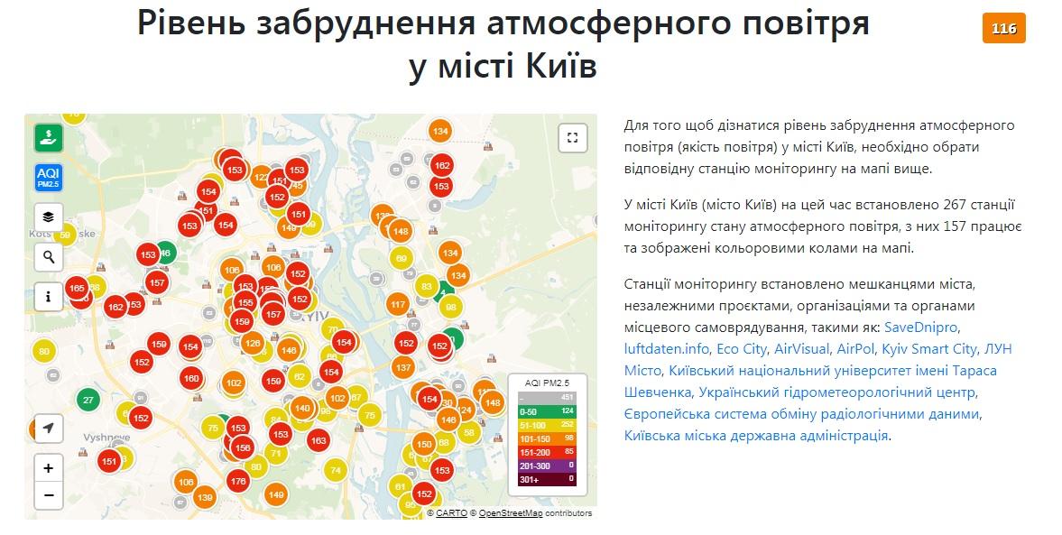 У Києві показник забруднення повітря більше ніж втричі перевищує норму - рейтинг, забруднення повітря, забруднення довкілля, забруднене повітря - 22 vozduh2