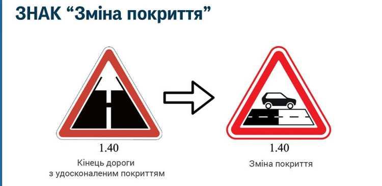 """У Києві вперше встановили дорожні знаки """"зміна покриття"""" - ПДР, дорожній рух - 6376"""