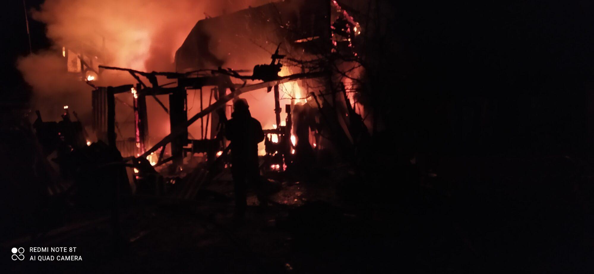 На Бориспільщині від будинку залишилося згарище - ГУ ДСНС у Київськійобласті, вогонь - IMG 20210111 202028 2000x922