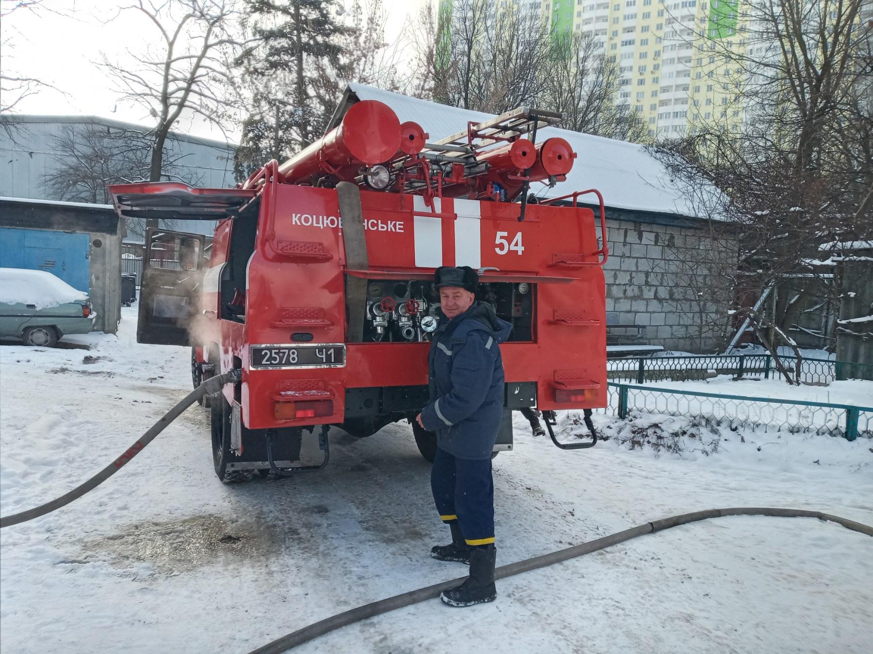 Дерев'яне перекриття будинку загорілося у Коцюбинському - рятувальники, пожежа будинку, Коцюбинська ОТГ, київщина - Koc Ponom 2