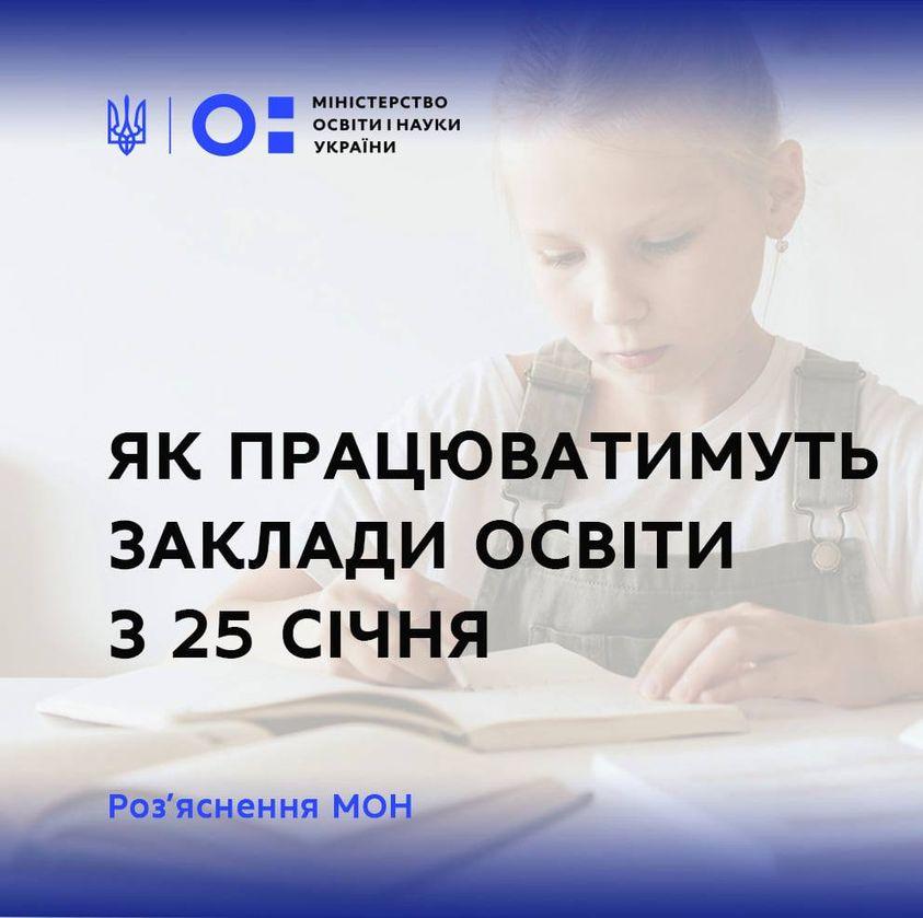 Навчання з 25 січня: що заборонено - Освіта, МОН України, коронавірус - SHkoly