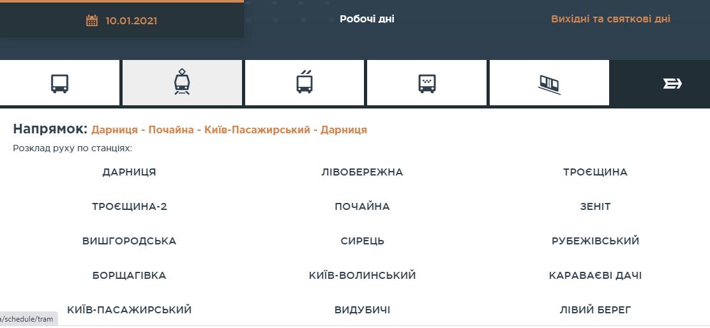 «Київпастранс» повідомив про зміни у роботі міської електрички - КП «Київпастранс», електрички - Screenshot 16