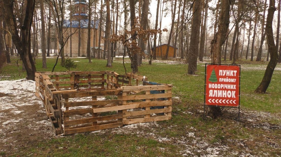 Пункти прийому для ялинок в Ірпені - новорічна ялинка, Муніципальна варта, київщина, Ірпінська ОТГ, благоустрій - Yalyn