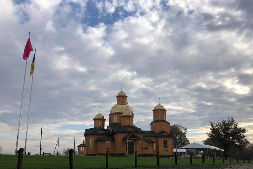 На Переяславщині відновили козацький храм - храм, козаки, відбудова - vidkrittya kozackoyi cerkvi u seli chopilki tashan