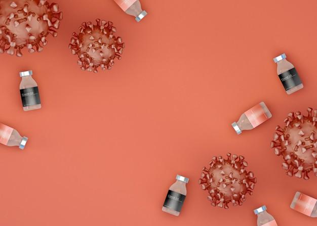 Вакцину NovaVax Україна почне отримувати з липня 2021 року - Щеплення, українці, Вакцинація, вакцина, COVID-19 - 3d illustration coronavirus virus cells with covid 19 vaccine medicine and science flat lay 58466 14398