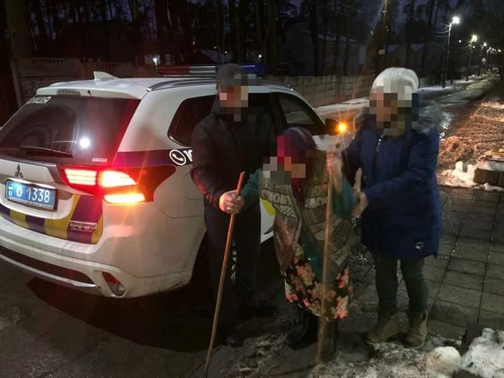 Загубилася у Ворзелі: поліцейські повернули бабусю додому - Поліція, Загубилася, Бучанський район, бабуся - FB IMG 1612513889785