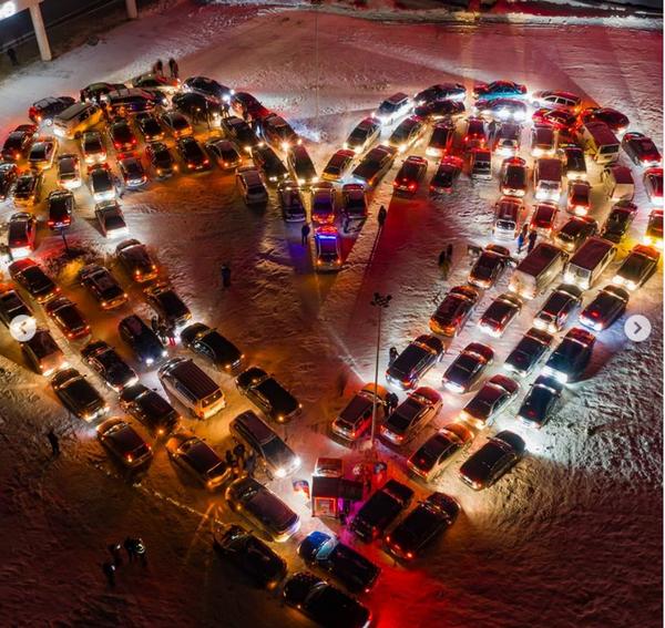 У Києві створили валентинку зі 110 авто - День Святого Валентина, День закоханих, авто - Screenshot 13 1