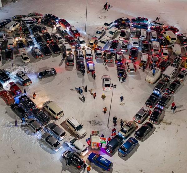 У Києві створили валентинку зі 110 авто - День Святого Валентина, День закоханих, авто - Screenshot 153